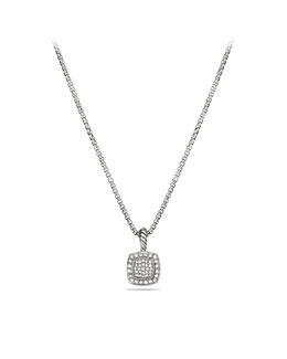 David Yurman Petite Albion Pendant with Diamonds on Chain