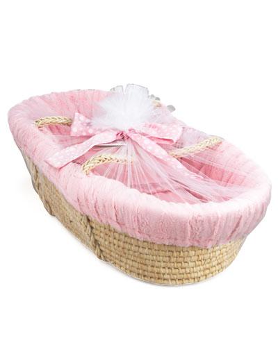 Swankie Blankie Moses Basket. Pink