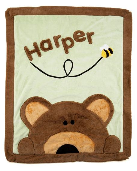 Peek-a-Boo Bear Blanket, Personalized