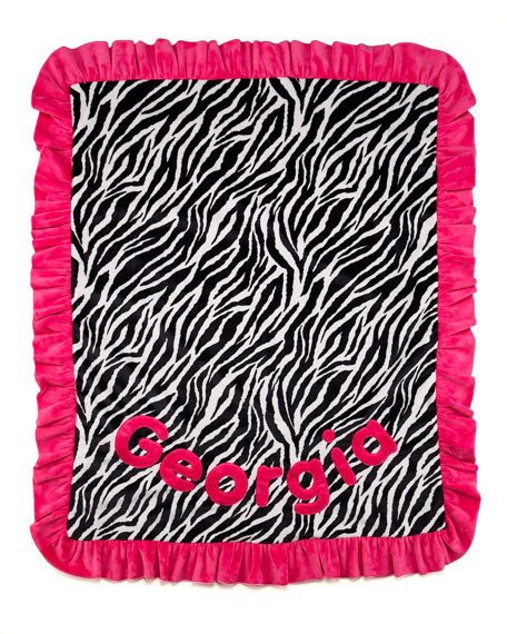 Zebra-Striped Blanket, Personalized