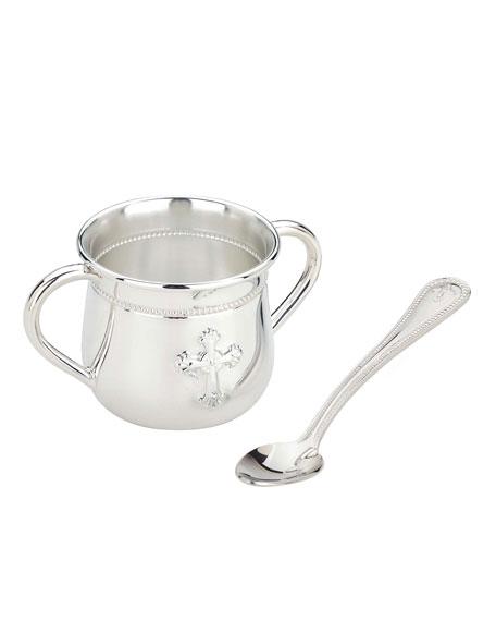 Abbey Cross Cup & Spoon