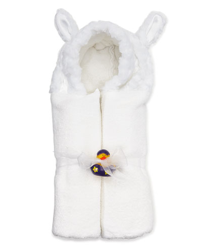 Swankie Blankie Hooded Lamb Towel