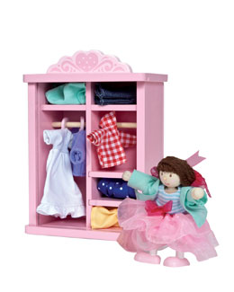 Le Toy Van Dress Up Doll & Wardrobe Set