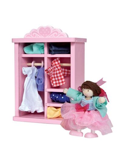 Le Toy Van Dress Up Doll & Wardrobe Set
