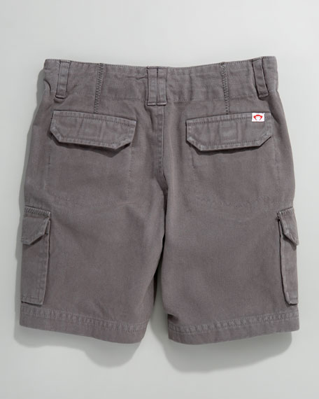 Solid Cargo Shorts, Vintage Black, Infant