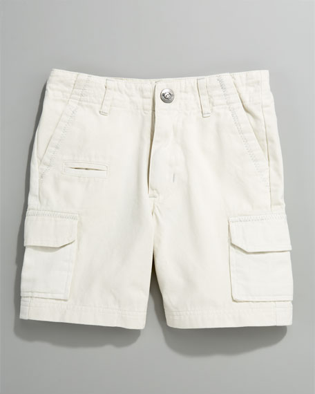 Solid Cargo Shorts, Concrete, Infant