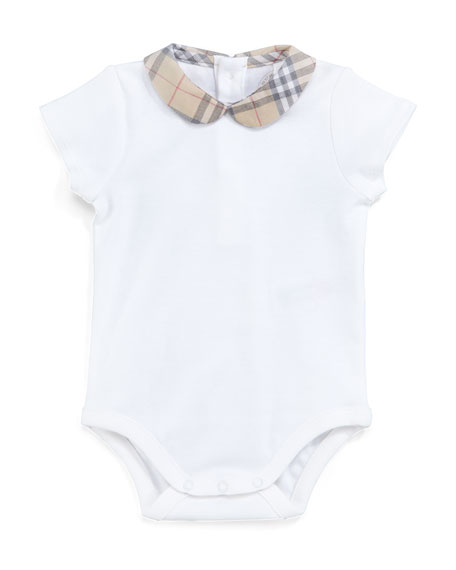 Burberry Check-Collar Bodysuit