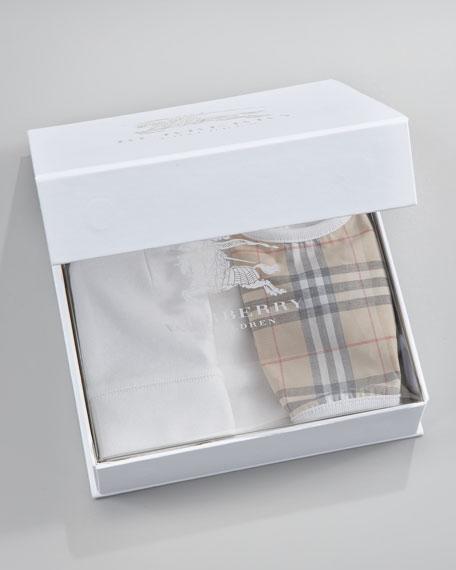 Carina Boxed Bodysuit, Cap & Bib Set