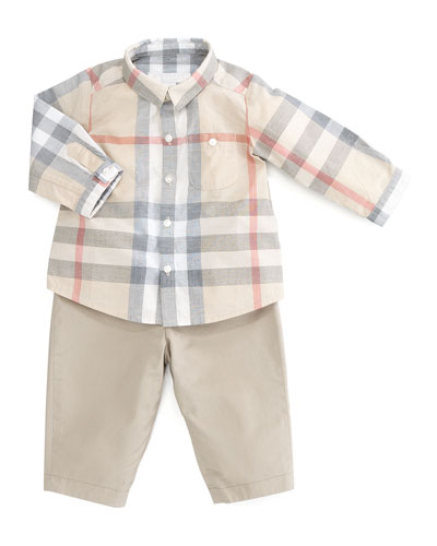 Burberry Reversible Trousers, 3-18 Months