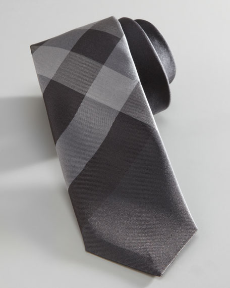Mini Beat Check Silk Tie