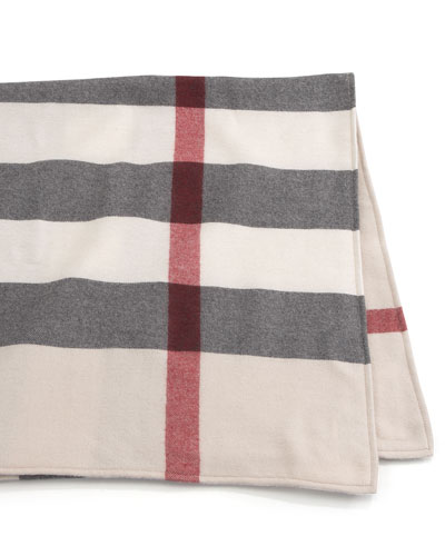 Burberry Wool Check Baby Blanket
