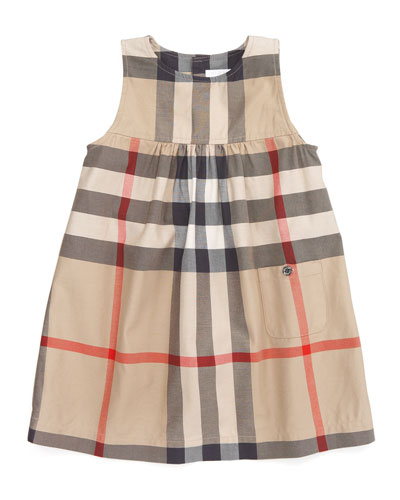 Burberry Check Sleeveless Dress