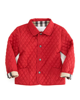 Burberry Red Quilted Mini Jacket, Sizes 12M-3Y