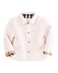 Burberry Ice Pink Quilted Mini Jacket Sizes 12m 3y