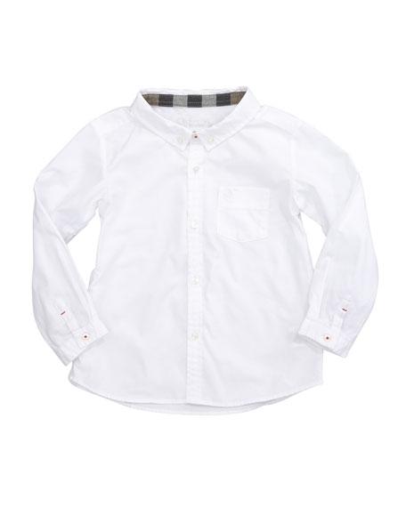 Lightweight Check-Lined Oxford Shirt