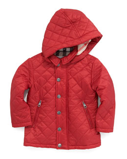 Burberry Lightweight Quilted Jacket, Military Red