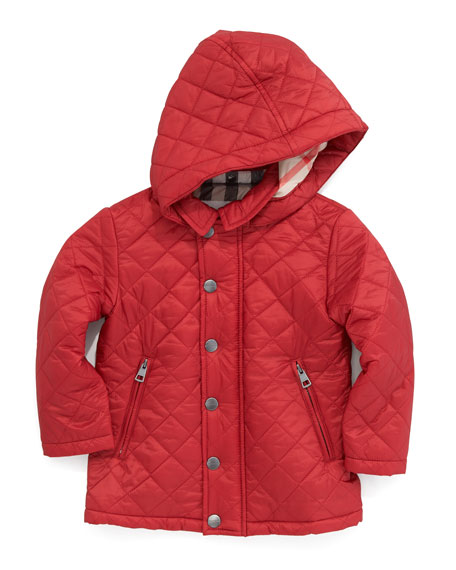 Lightweight Quilted Jacket, Military Red