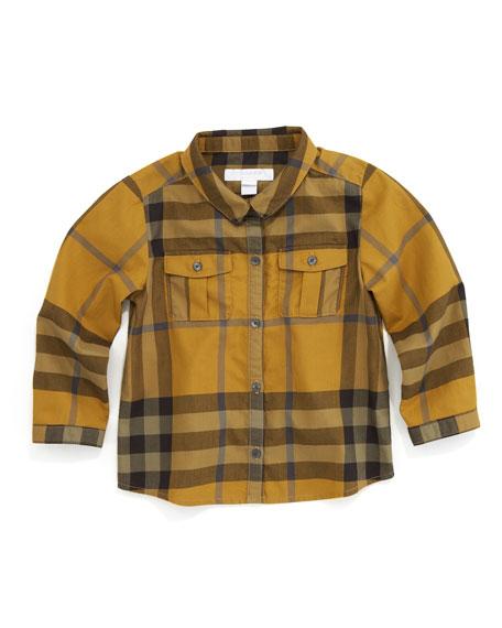 Long-Sleeve Check Shirt, Turmeric