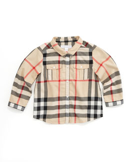 Burberry Long-Sleeve Check Shirt, New Classic
