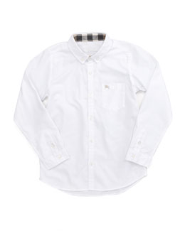 Burberry Mini Lightweight Poplin Oxford Shirt