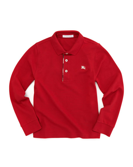 Check-Trim Polo, Military Red