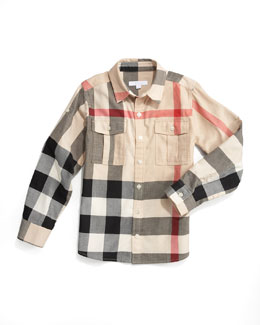 Burberry Mini Giant Exploded Check Tee