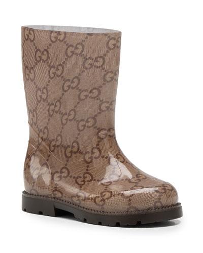Gucci GG Rain Boot, Ebony
