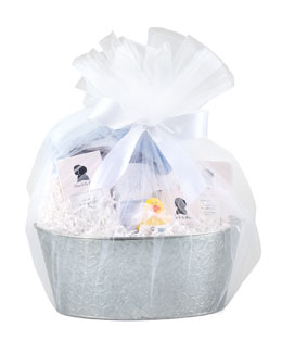 Swankie Blankie Bath Gift Set, Blue