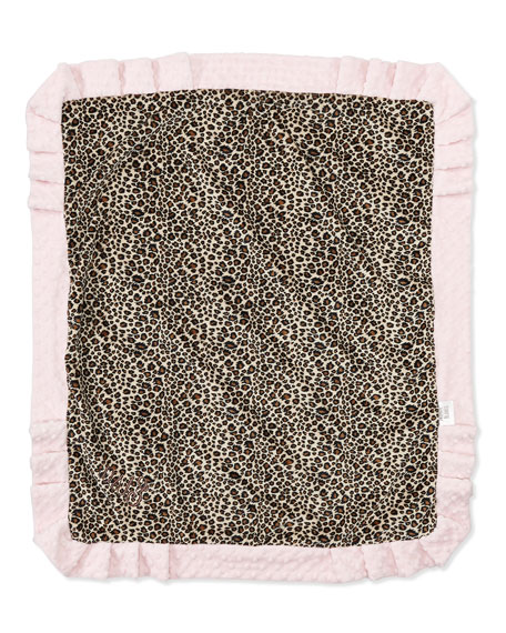 Cheetah-Print Receiving Blanket