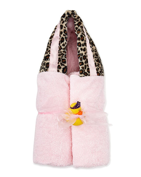 Swankie Blankie Cheetah Hooded Towel