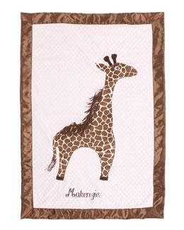 Swankie Blankie Giraffe Toddler Blanket, Plain