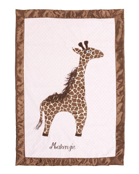 Giraffe Toddler Blanket, Plain