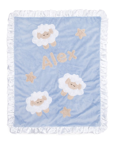 Blue Sheep Blanket, Personalized