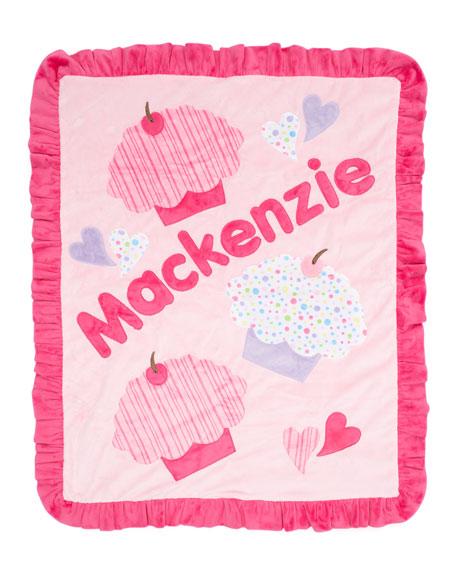 Cupcake with Sprinkles Blanket, Plain