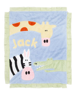 Boogie Baby Jungle Rumble Blanket, Personalized