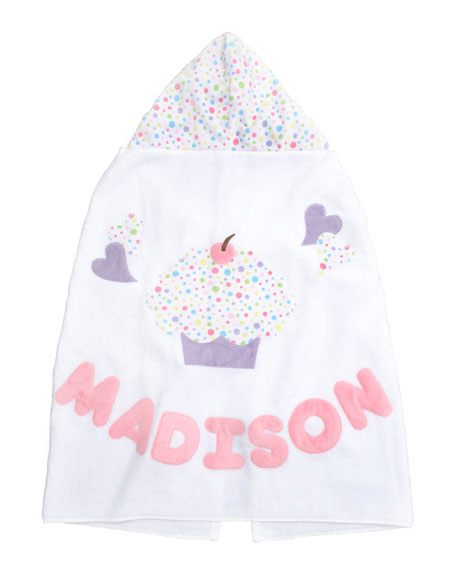 Cupcake Hooded Towel, Personalized