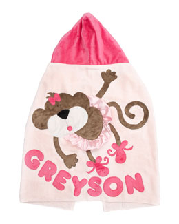 Boogie Baby Pink Hanging Around Hooded Towel, Personalized