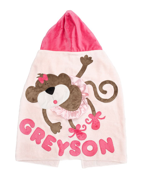 Pink Hanging Around Hooded Towel, Personalized