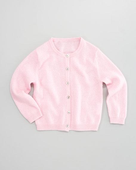 Classic Cashmere Cardigan, Chiffon Pink