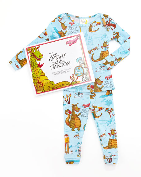 Knight and the Dragon Pajamas and Book Set, 12-18 Months