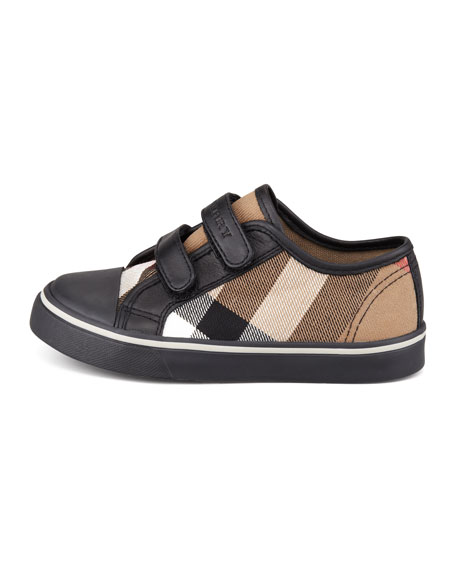 Check Double-Strap Sneaker, Toddler Sizes