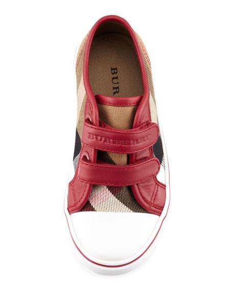 Check Double-Strap Sneaker, Kids' Sizes