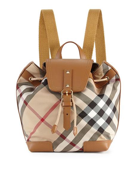 Dennis Girls' Check Backpack, Saddle Brown