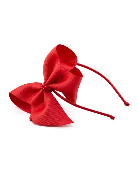 Grosgrain Rhinestone Headband, Red