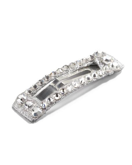 Large Rhinestone Clip, Silver