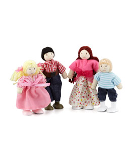 "Le Toy Van ""My Family"" Doll Family of Four"