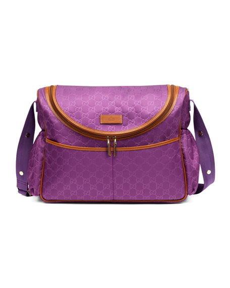 GG Messenger Diaper Bag, Cyclamen/Orange