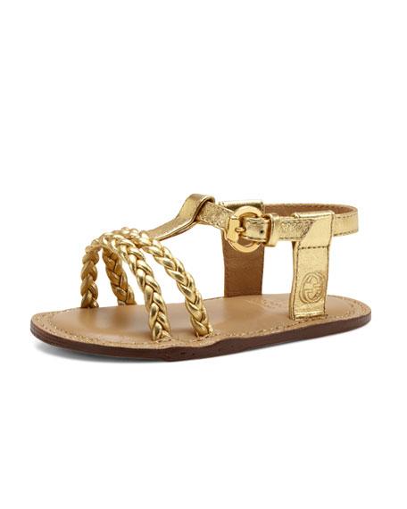 Baby Rachel Metallic Sandal, Gold