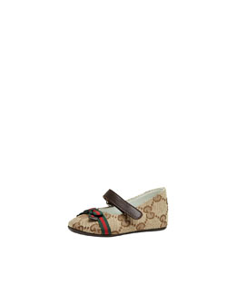 Gucci Baby Marilyn GG Canvas Mary Jane Ballerina