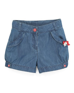 Tartine et Chocolat Tyfen Bow-Trim Denim Shorts